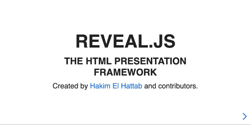 Easily creating beautiful presentations using Markdown